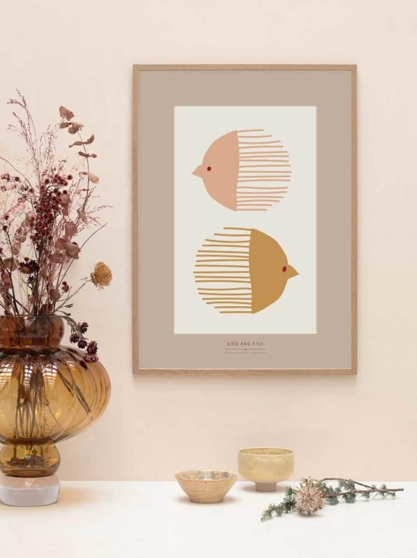 Bird and Fish Poster