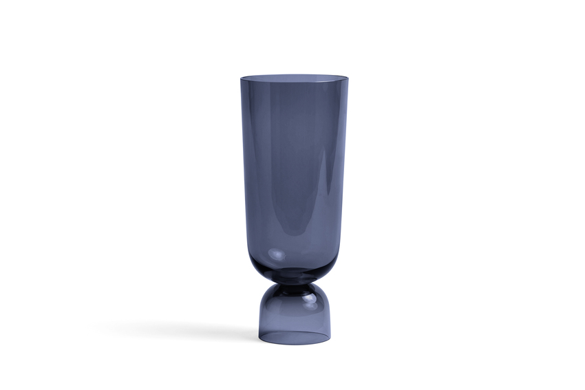 Bottoms Up Vase L Navy blue