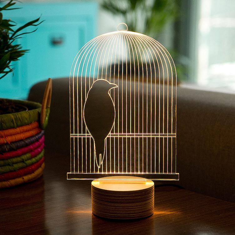 Bulbing Birdcage LED Lamp