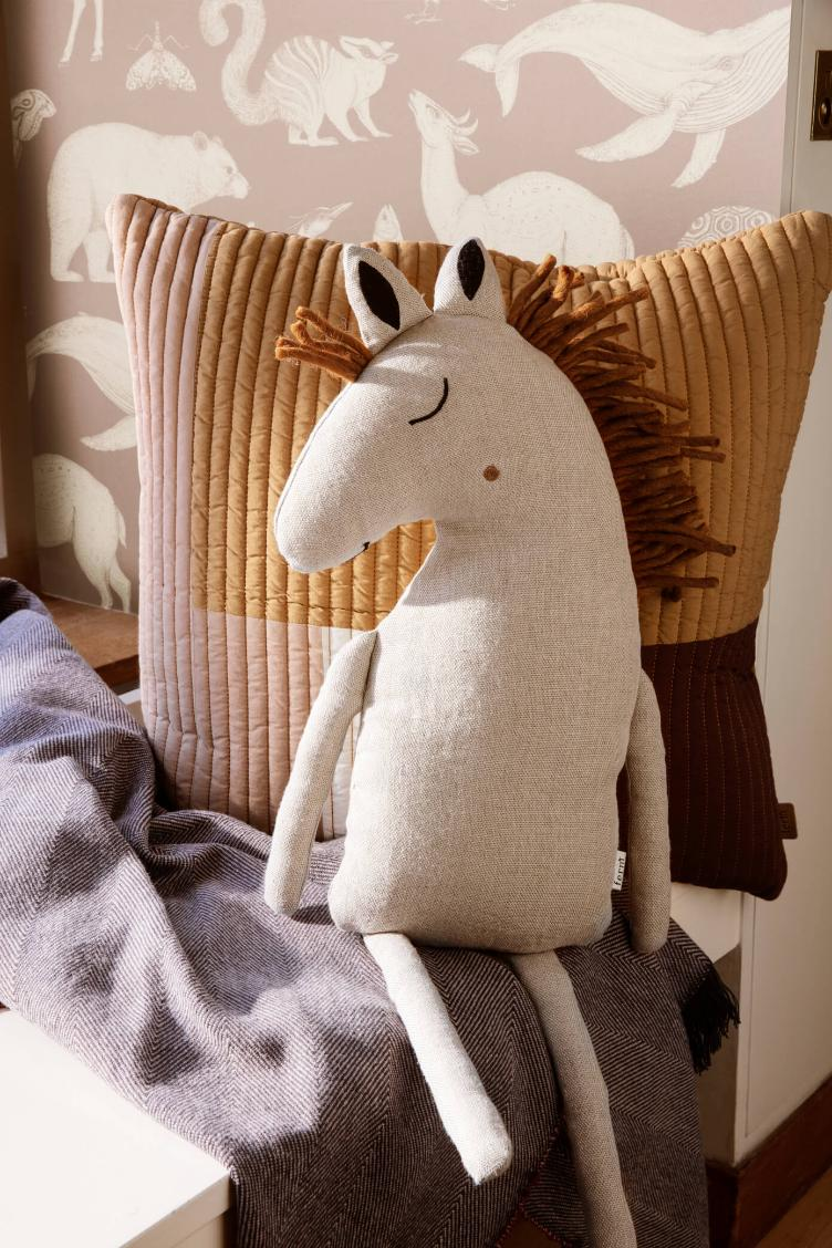 Horse Cushion - Natural