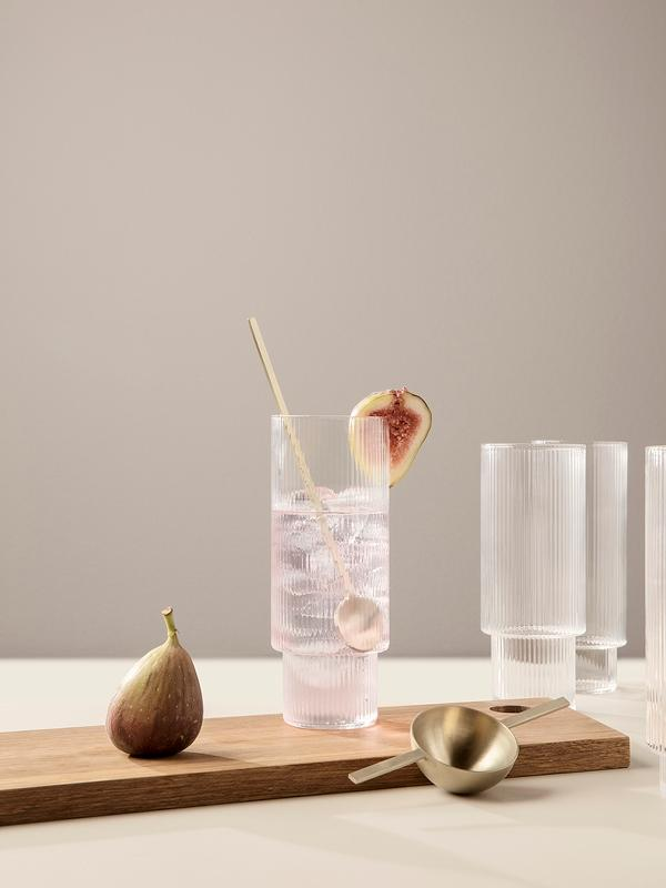 Ripple Long Drink Glas - 4-Set
