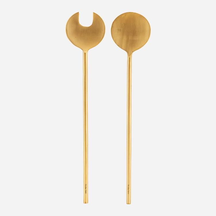 Salad Set - Brass