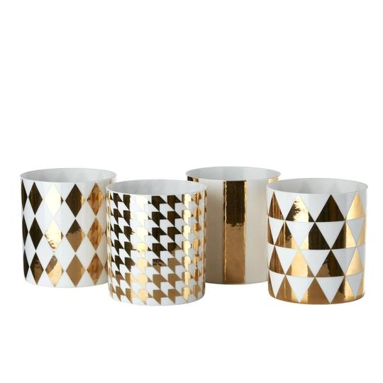 Tealight refined gold set4